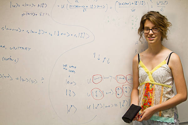 No-cloning theorem with Júlia Amorós Binefa in 2012